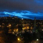 The sites of Madrid at Night from our Room
