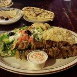 Luxor Lamb Kabob w/ Greek salad