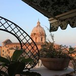 The view from our balcony overlooking Sant'Andrea della Valle