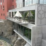 Restaurant & wellness from terrace.