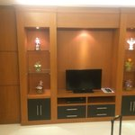 Wall unit with TV in the Living Room