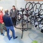 Bike room with lock