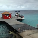 """""""Papa Dock"""" short walk from convenient rinse tanks for divers with compressor right on the dock."""