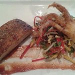 Delicious Pork Belly with crumbed Crab & Thai Salad