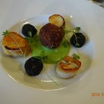 Scollops with Mini Black Pudding