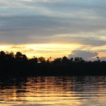 Sunset on the Kinabatangan River