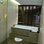 Walk-in shower & bath