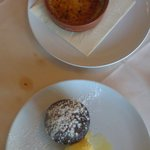 Incredible creme brulee and chocolate fondant.Best dessert we've had in a while!