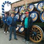 Oktoberfest 2013 in front of Hofbrau horse-cart