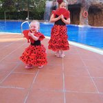 my little Spanish dancers at H10 Salauris Palace poolside.
