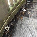 Dégueulasse et inacceptable !! terrasse de la chambre 315