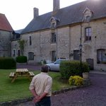 The owner Richard and the B&B in the background