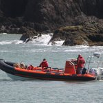 Coming round to pick us up in Ilfracombe harbour.