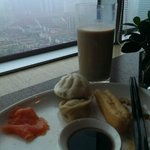 Lounge on the 38th Floor. Chinese Breakfast.
