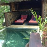 Cosy spots to relax by the pool. Just for us!