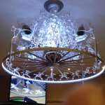 Racing themed chandelier.