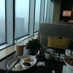 Loung on the 38th Floor. Breakfast with a view.
