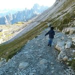 4 years old walking at Tre cime