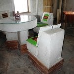 Salt chairs and table