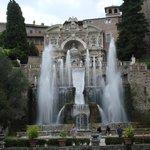 Вид на музыкальный фонтан