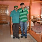Dad and bro in the living room