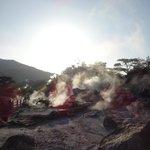 夕日の地獄谷