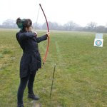 Me trying my hand at archery for the first time!