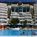 Hotel from our sunbed by the pool