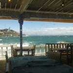 view from our table on a very windy day!