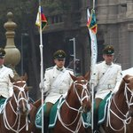 Changing of the guard at Palacio de la Moneda, Santiago