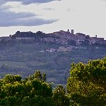 view of montepulciano from hotel