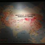 The reach of the mighty mongolian empire at it's peak