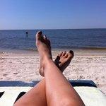Biloxi Beach Co. chaise rental across street from Quality Inn