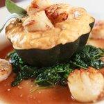Seasonal Dish; Scallops w/ Pumpkin Risotto