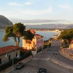 View of the town of Mondello from our bedroom