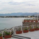 Hotel terrace with views over the bay