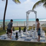 My boys enjoyed the giant chess game