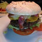 Home Made Ground Steak Burger with Sour Dough Bun