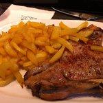 Perfectly seasoned and prepared steak