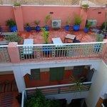 1ière terrasse avec transats