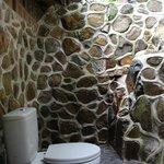 Open air bathroom of Waterfall Room
