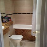 Bathroom with small tub