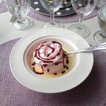 Dessert : île flottante à la rose