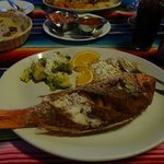 a great whole fried fish