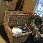 Breakfast delivered in a basket