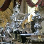 Silver Cherubs around side altar