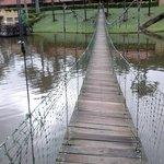 Atravesse esta ponte da alegria.