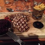 Wild Boar Medallions with Triple Cooked Chips