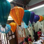 Lanterns made by the artisans - ready for sale