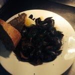 Mussels provencale, warm crusty bread